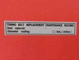 Awe Inspiring 3 Timing Belt Replacement Sticker Decal 3 5 X 0 63 Erma755305 Wiring Database Gramgelartorg