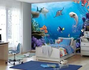 Details About Giant Wall Mural Wallpaper Disney Baby Room Finding Dory Kids Decor No Adhesive