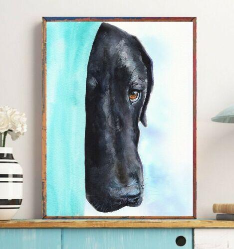 Labrador Print Watercolor Black Lab Funny Retriever,Police Officer Gift,Dog