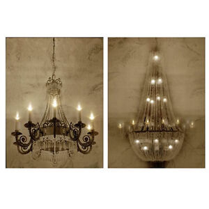 Image Is Loading Canvas Print Chandelier Wall Art W LED Lights