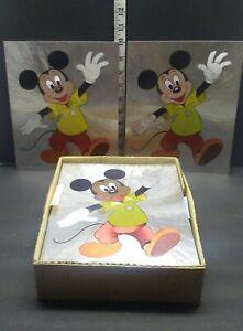 MICKEY-MOUSE-WALT-DISNEY-PRODUCTIONS-VINTAGE-FOIL-ART-Full-Box-lot-250-1980s