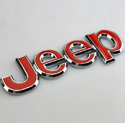 3D Red Metal Car Auto Front & Rear Badges Emblems Stickers Decals for HOT NEW