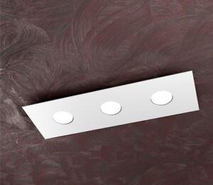 Dettagli su PLAFONIERA MODERNA LED RETTANGOLARE IN METALLO CUCINA BAGNO  CAMERA DA LETTO