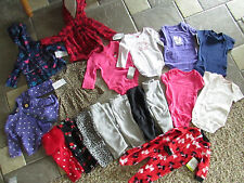NEW LOT 18 BABY GIRL CLOTHING CARTERS SLEEPERS SHIRTS  PANTS+ 3M 3 MO FREE SHIP