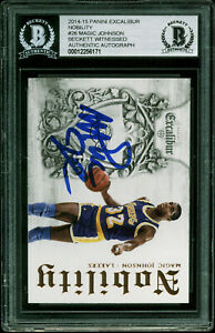 Lakers-Magic-Johnson-Signed-2014-Panini-Excalibur-26-Card-BAS-Slabbed-12256171
