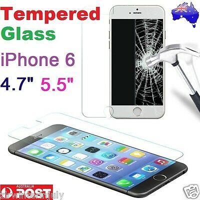 "iPhone 6 Plus Tempered Glass Screen Protector 4.7""5.5"" Scratch Resist Film Guard"