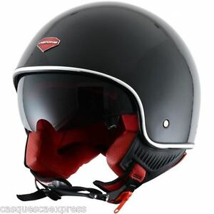 CASQUE-SCOOTER-MOTO-ASTONE-MINI-JET-RETRO-NOIR-VERNI