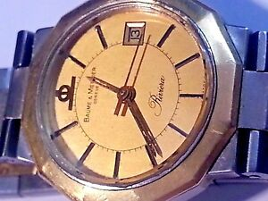 4d12c547082 BEAUTIFUL BAUME ET MERCIER VINTAGE RIVERA WATCH WITH DATE 18K ...