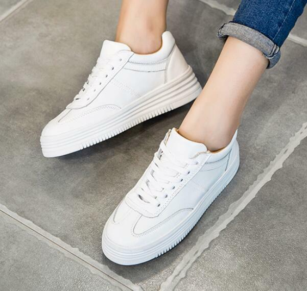 Women Sneakers White Embroidery Mixed color Flats Casual Lace Up Sports shoes sz