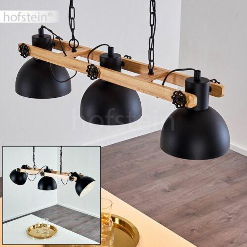 Vintage Hänge Leuchte Pendel Lampe Wohn Schlaf Ess Raum Beleuchtung schwarz//Holz