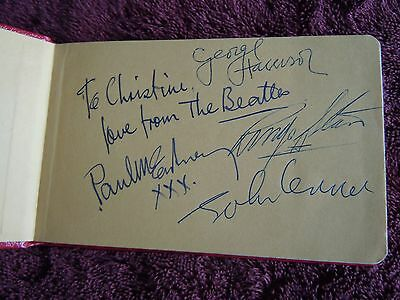 The Beatles Authentic Set Of Autographs Circa '63 Obtained At Abbey Road Studios