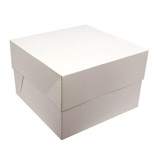 Haute Qualité Blanc boîte de gâteau 8,10,12,14,16 4,6 pouces avec Couvercle & 4,6 8,10,12,14,16 & 12 Trou cupcake box 685745