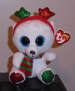 Ty Beanie Boos - FROST the Christmas Polar Bear 6