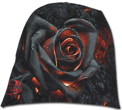 Burnt Rose Spiral OFFICIAL Beanie Hat Light Cotton