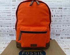 FOSSIL Organizer BACKPACK Orange RUCKSACK Canvas Padded Laptop Bag BNWT RRP£79