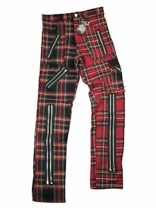 Tiger-Of-London-Tartan-Hose-Schottenmuster-Rot-Multi-Punk-Kariert-5000
