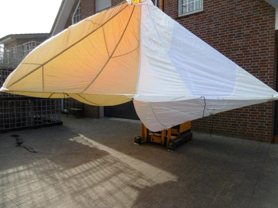 1x paracadute Decorazione paracadute VELA PARASOLE GIARDINO TELO TETTO ex Esercito Tedesco BW