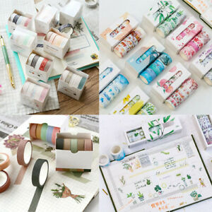 5//7//8M Washi Tape Set Craft Tape Scrapbook Decorative Paper Adhesive Sticker