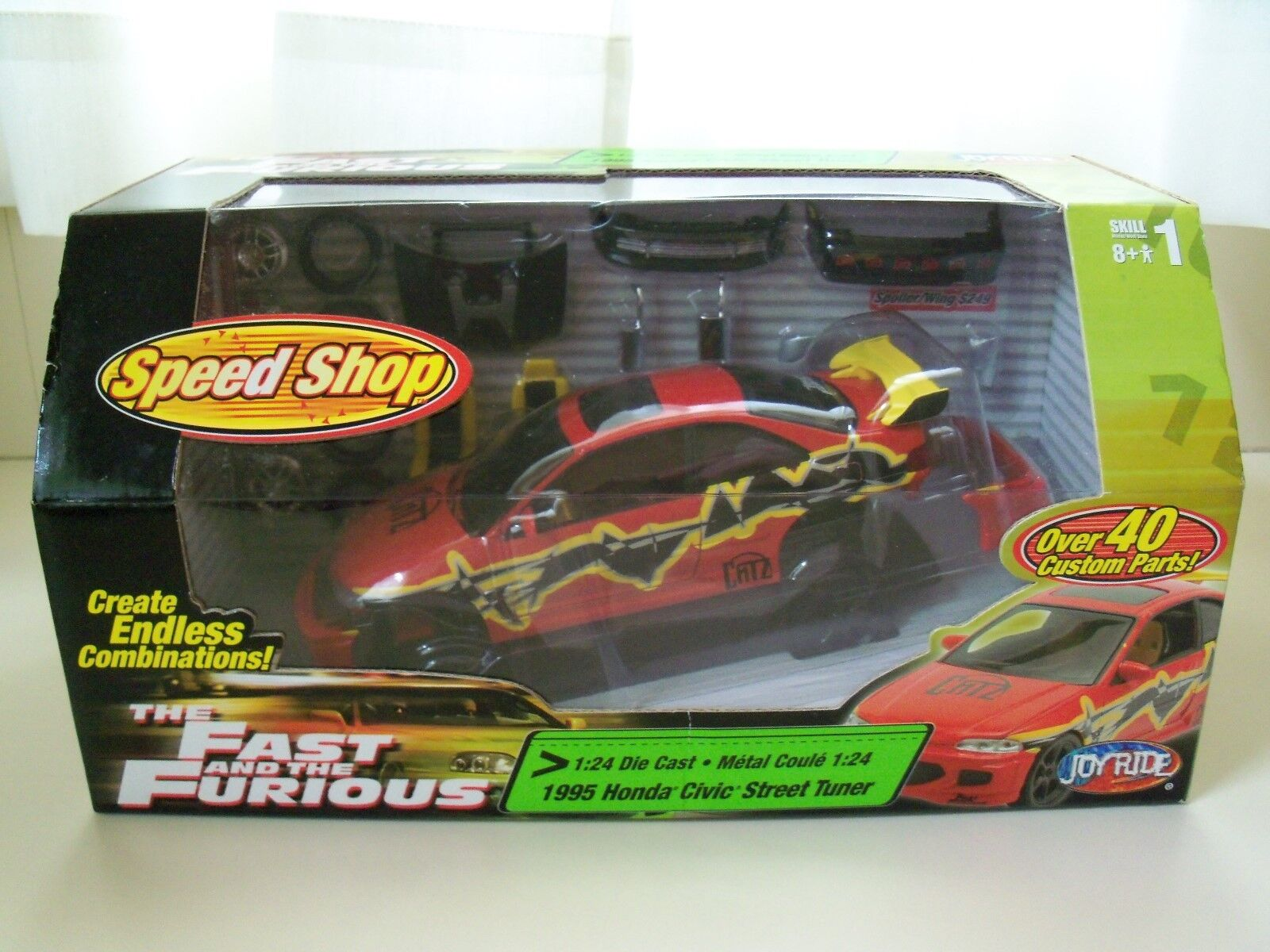 ERTL JOY RIDE - THE FAST AND THE FURIOUS - SPEED SHOP 1995 HONDA CIVIC 1 24