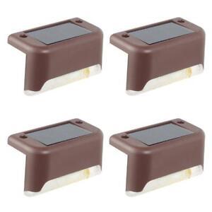 4X-Lampe-Solaire-LED-Zaunleuchte-Applique-Murale-Public-Luminaires-de-Jardin