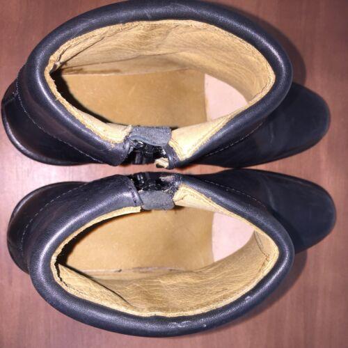 glissière latérale look Qualité à fermeture Otero Bottine cuir superbe Taille avec en Luigi 6 noir wxx8CFgq