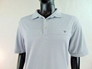 Callaway-Men-039-s-Golf-Polo-Shirt-Light-Gray-Short-Sleeve-Size-Extra-Large