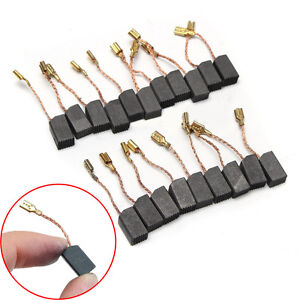 20 Pcs 6mm*8mm*14mm Motor Carbon Brushes Set For Electric Drill Angle Grinder