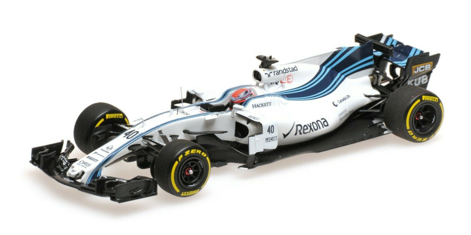 Minichamps F1 Williams Mercedes FW40 Robert Kubica 1 43 Abu Dhabi Test 2017