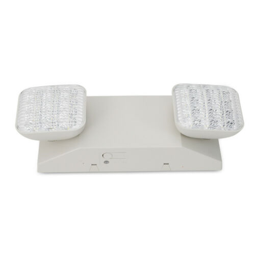 4pcs Emergency LED Exit Light White Twin Square Head Universal Lamp Lighting USA