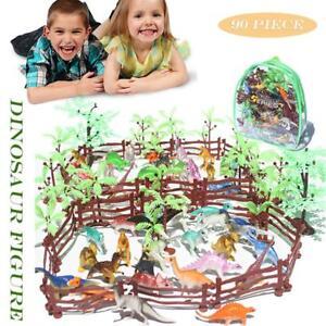 90Pcs/Set Lot Assorted Dinosaurs Toys Decor Figures Plastic Study Party Bulk
