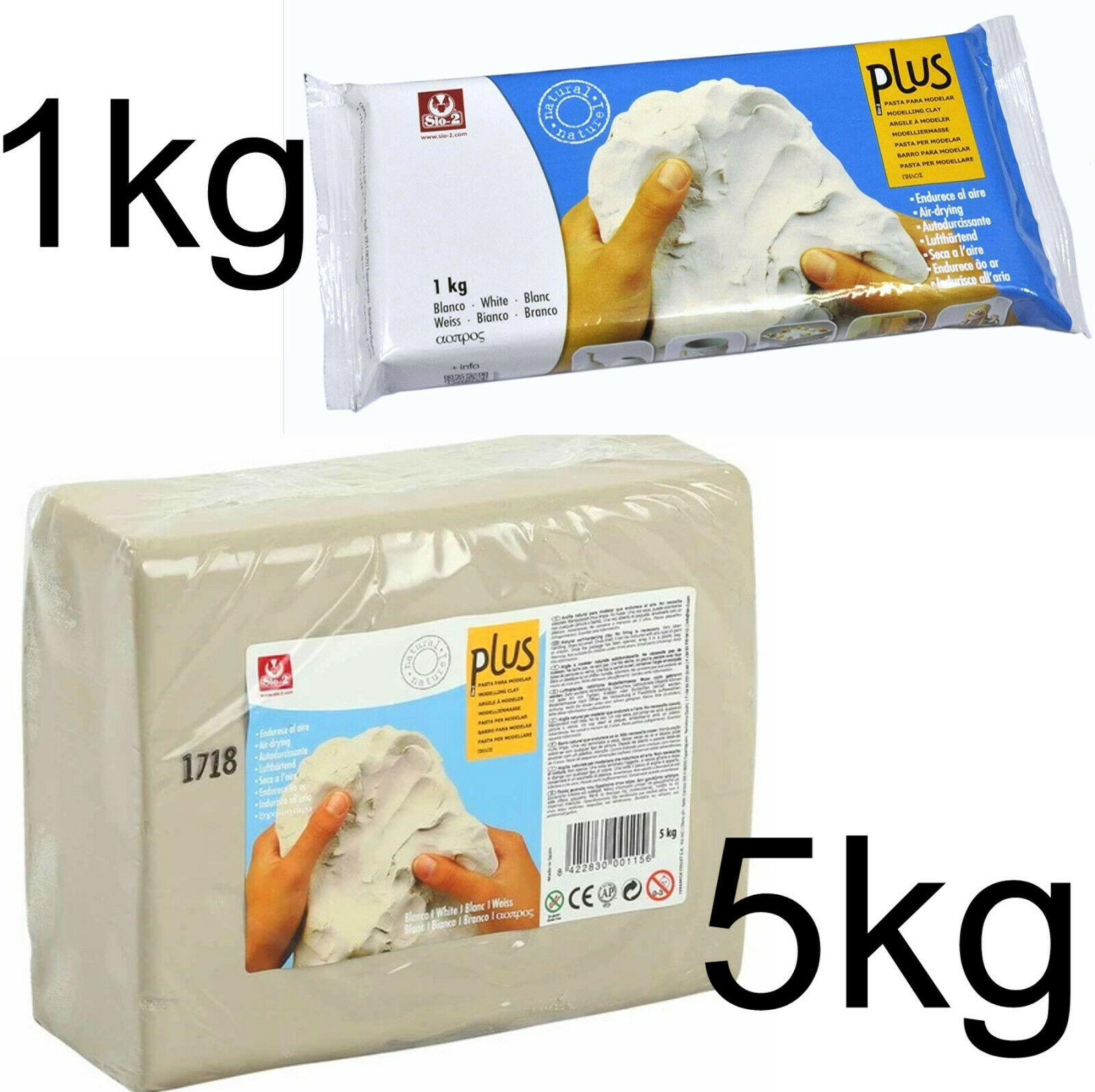 1kg Light Grey Air Drying Modelling Clay for CraftsModelling Crafts