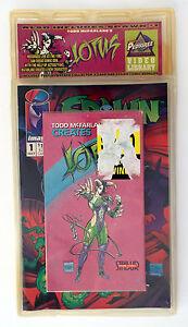 SPAWN-1-w-Todd-Mcfarlane-VHS-ASHCAN-Promo-Card-1992-Lotus