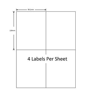 4 per sheet white self adhesive blank a4 printer address labels