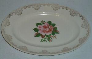 Paden-City-Pottery-Tray-Platter-AMERICAN-ROSE-Vtg-Shenandoah-Ware-11-5-034