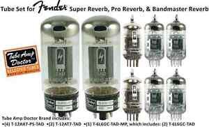 TUBE-SET-Fender-Super-Reverb-Pro-Reverb-Bandmaster-Reverb-Valves-TUBE-AMP-Doctor