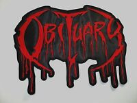 Obituary Red Logo Embroidered Back Patch