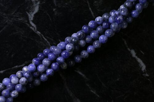 6mm Gemstone Rounds Sodalite Gr12
