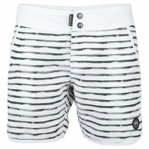 986aafe5a6 Board Shorts White Stripe Women's ROC Urban Beach Surf Swim Holiday ...