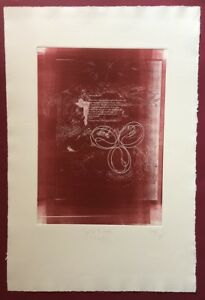 Jonas Hafner, delicato Bottoni Mosè (1), acquaforte, 1988/89, firmata e datata