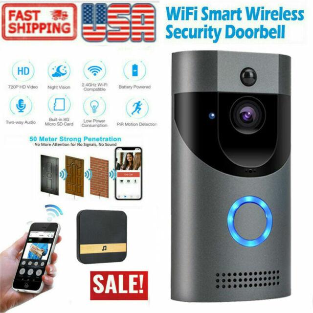Two-Way Wireless Door Bell WiFi Video PIR Doorbell Talk Smart Security HD Camera