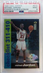 Rare: 95-96 Collector's Choice Player's Club Platinum Michael Jordan #410, PSA 9