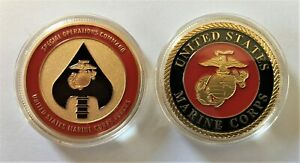 Force Recon USMC Marine Challenge Coin MARSOC PJ SEAL Special Forces Ranger