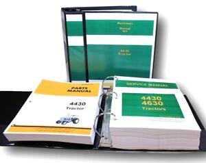 Service Manual Set For John Deere 4430 Tractor Repair Parts Catalog