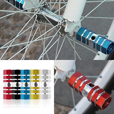 2x Aluminum Alloy Pegs Bike Cycling Bicycle  Stunt Foot Peg Six Axle OE