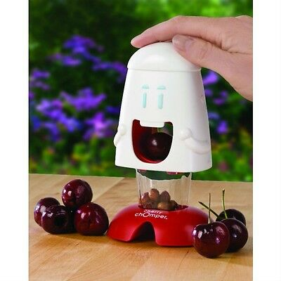 Talisman Designs Cherry Chomper Cherry Pitter Olives Mess-Free Kitchen Gadget