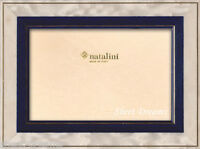 Natalini Hand Made Italian Marquetry Blue White Gold Photo Picture Frame