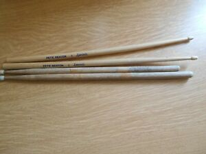 Pair-of-Pete-Seaton-Drumsticks-and-2-Nylon-tipped-ones