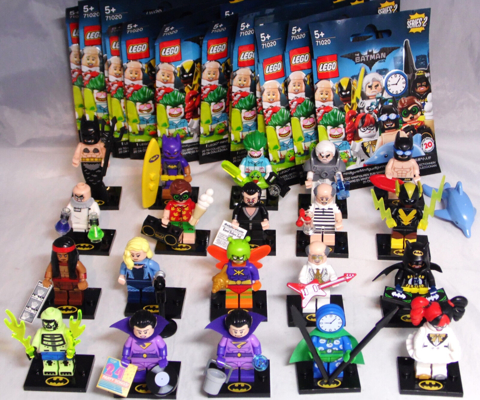 LEGO 71020 Minfiguren The Batman Movie Serie 2, 1 Satz = 20 versch. Figuren NEU