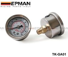 2PCS Fuel Pressure Gauge 0-160 PSI With Liquid White Free Shipping