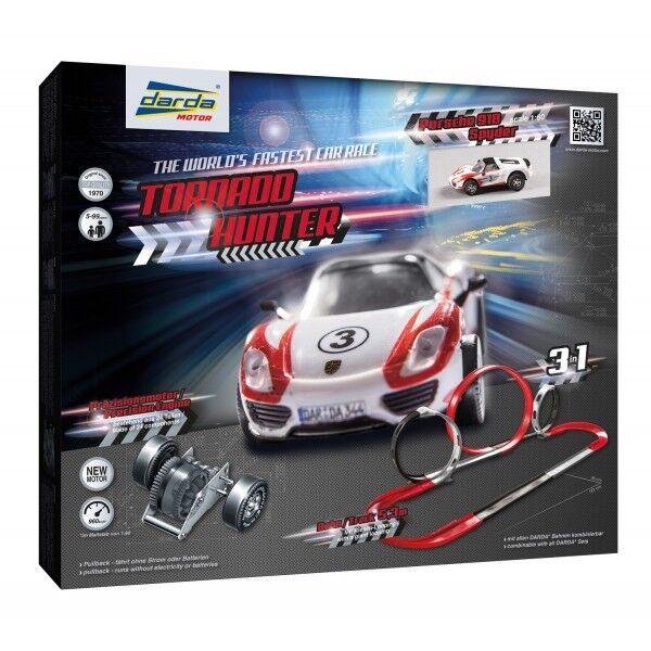 DARDA Rennbahn 50242 TORNADO HUNTER 5,3Meter 3 Loopings inkl Porsche 918 NEU/OVP